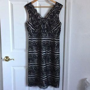 Talbots black lace dress size 10